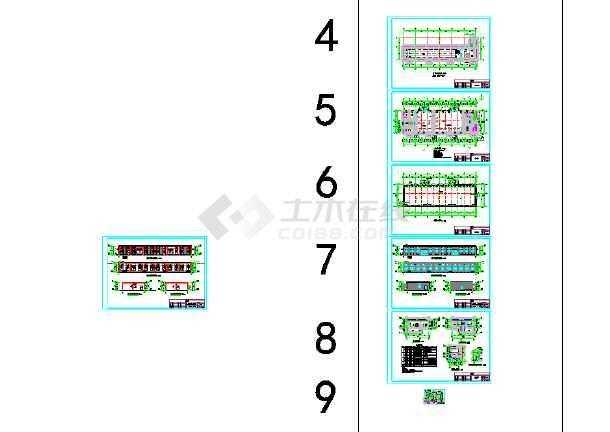 某地靶场建筑设计施工图-图3
