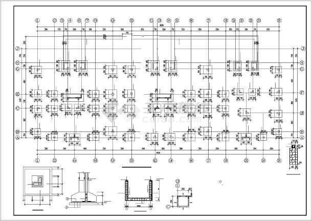 某异形柱小高层住宅部分结构图-图1
