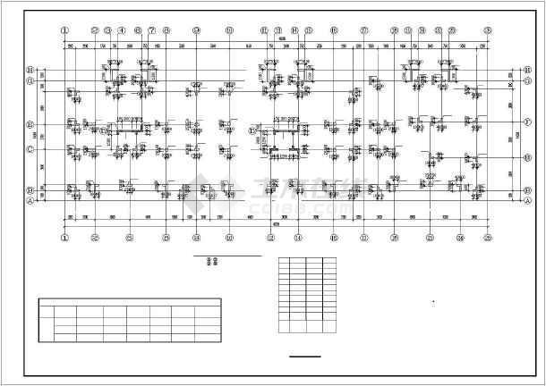 某异形柱小高层住宅部分结构图-图2