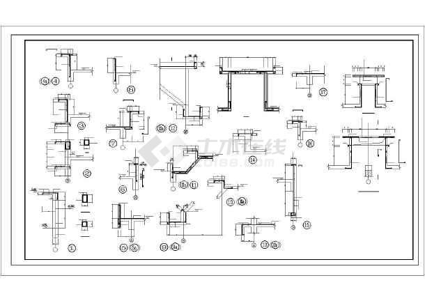 某异形柱小高层住宅部分结构图-图3