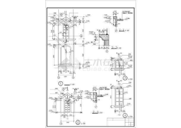 美式别墅全套建筑设计图纸-图1