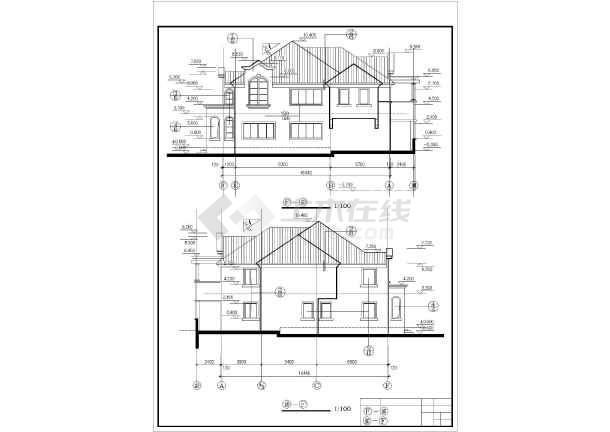 美式别墅全套建筑设计图纸-图3