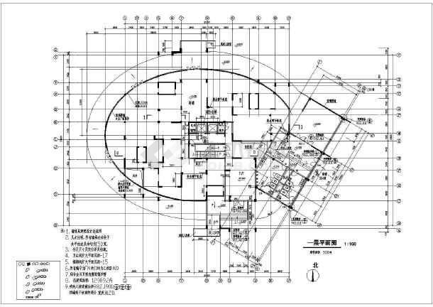 某地高层建筑住宅楼施工图-图1