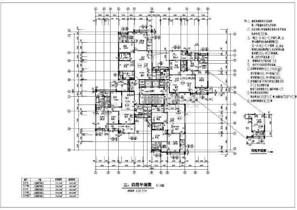 某地高层建筑住宅楼施工图-图3