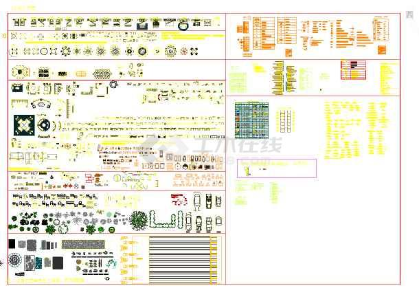 CAD平面土块好用-图1