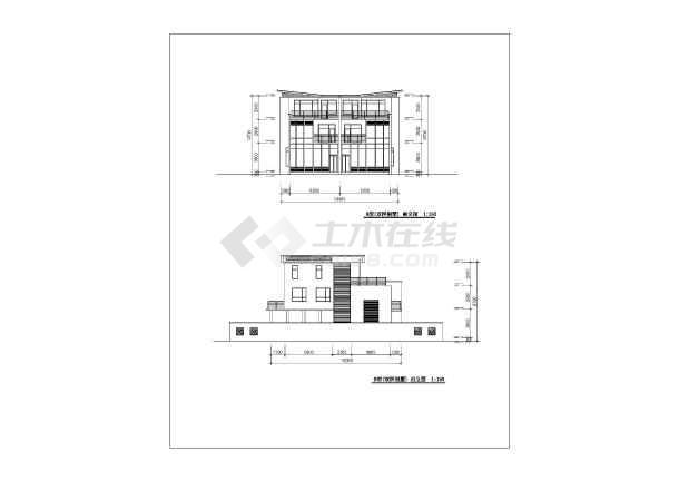 联体双拼别墅建筑设计图纸-图1