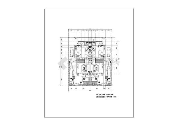 联体双拼别墅建筑设计图纸-图2