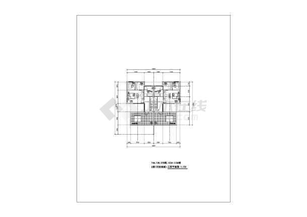 联体双拼别墅建筑设计图纸-图3
