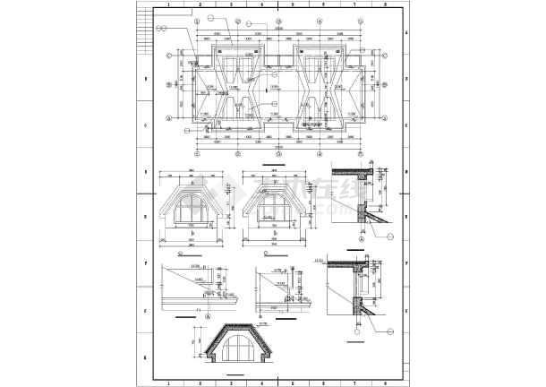 某山地联排别墅建筑设计图纸-图1