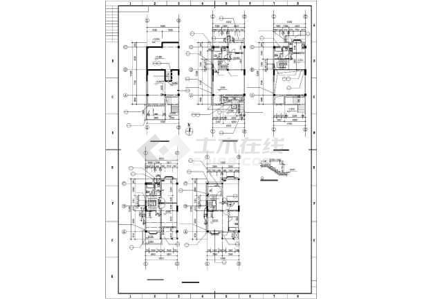 某山地联排别墅建筑设计图纸-图2