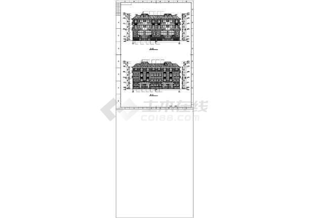 某山地联排别墅建筑设计图纸-图3