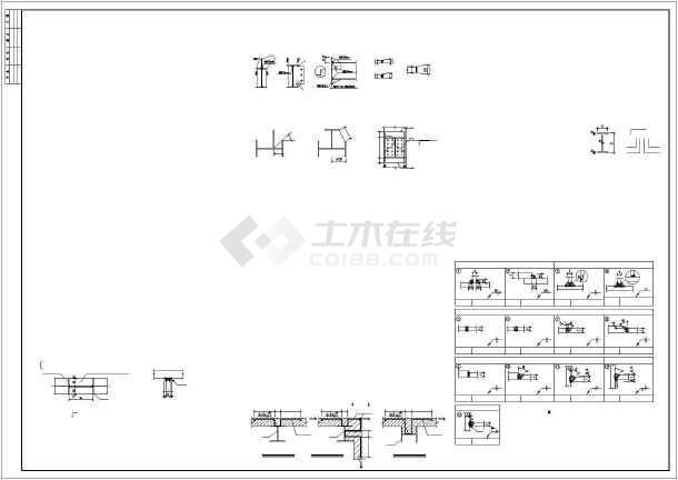 单层门钢厂房结构初设图-图1