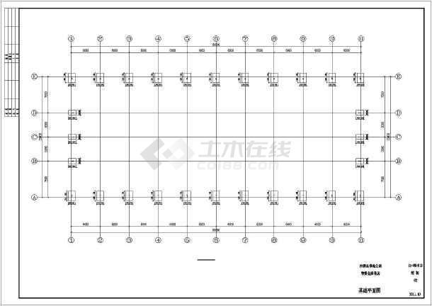 单层门钢厂房结构初设图-图2