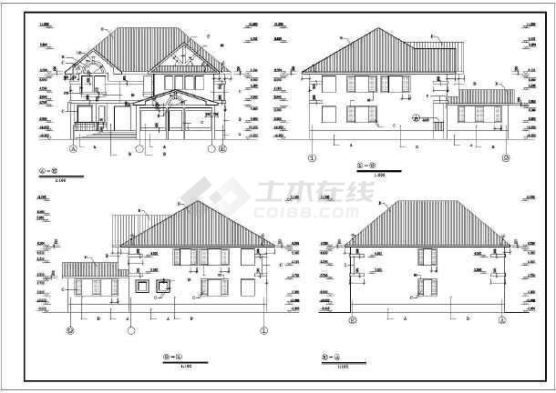 景区别墅全套建筑设计施工图-图2