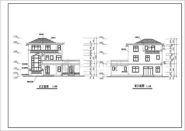 某高档多层独立别墅建筑设计方案图-图1