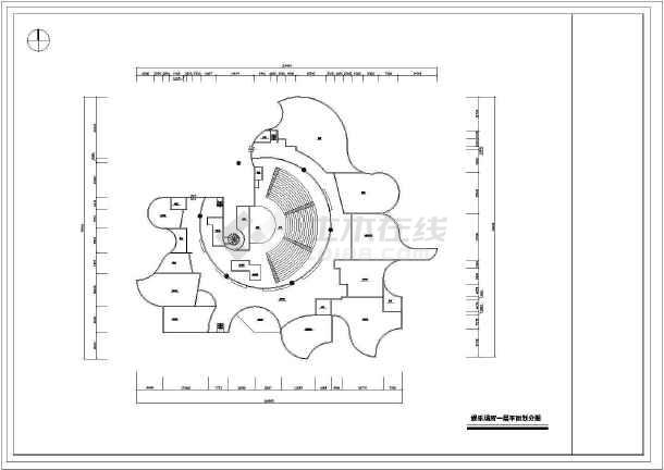 某娱乐场所室内设计装修cad方案图纸(共27张)-图1