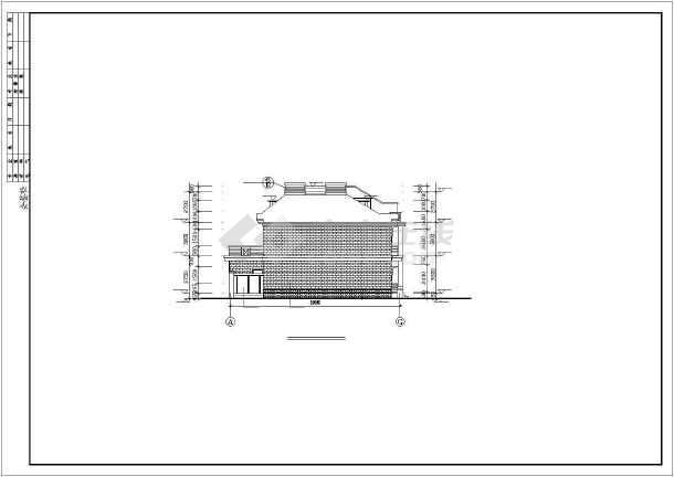 联体多层别墅建筑设计施工图-图1