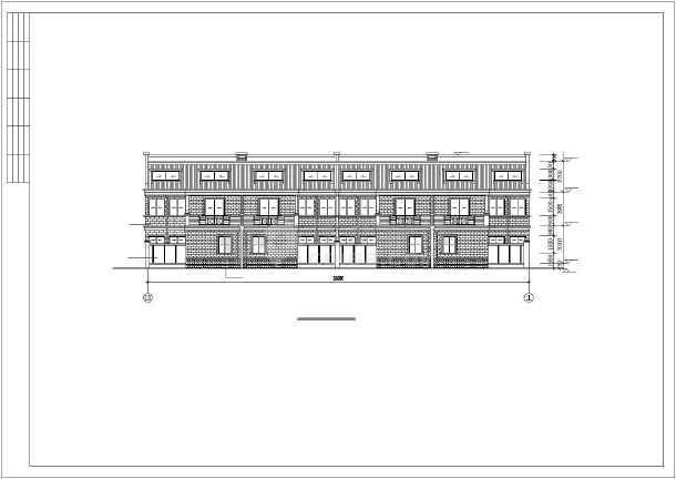 联体多层别墅建筑设计施工图-图2
