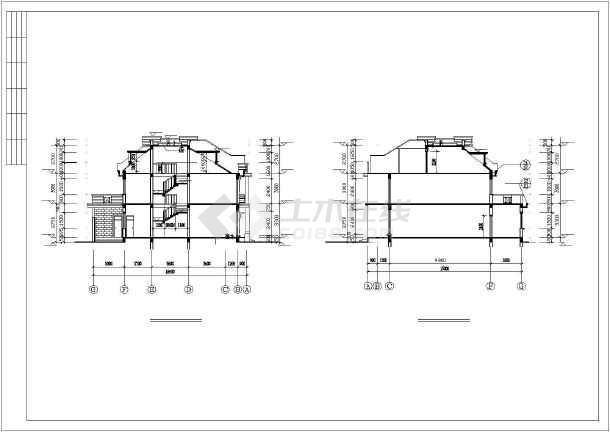 联体多层别墅建筑设计施工图-图3