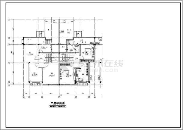 居住小区C型别墅建筑图-图2