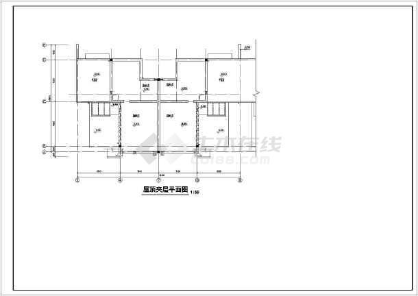 居住小区C型别墅建筑图-图3