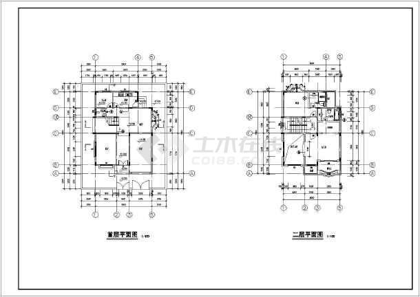 某地三层独栋别墅建筑设计cad方案图-图1