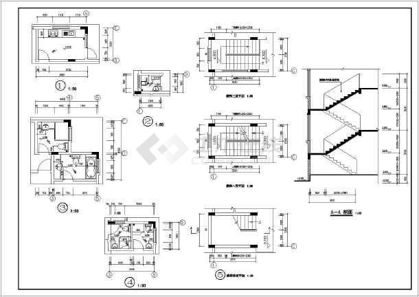 某地三层独栋别墅建筑设计cad方案图-图3