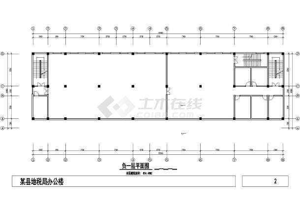 某小型办公楼建筑设计CAD方案图-图2