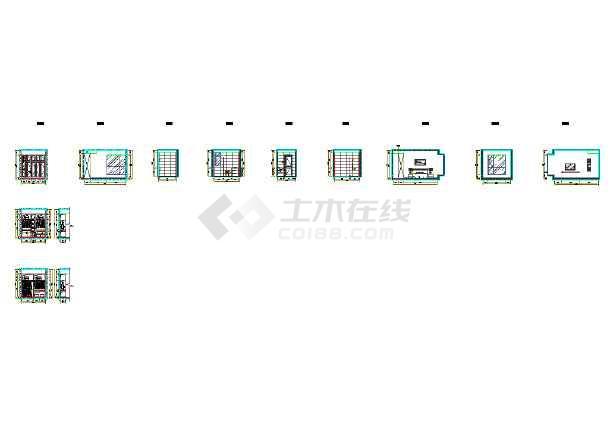 现代风格一百多平米全套施工图纸-图2