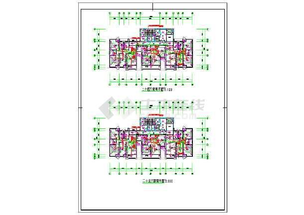 某小区一类高层住宅楼电气图-图3
