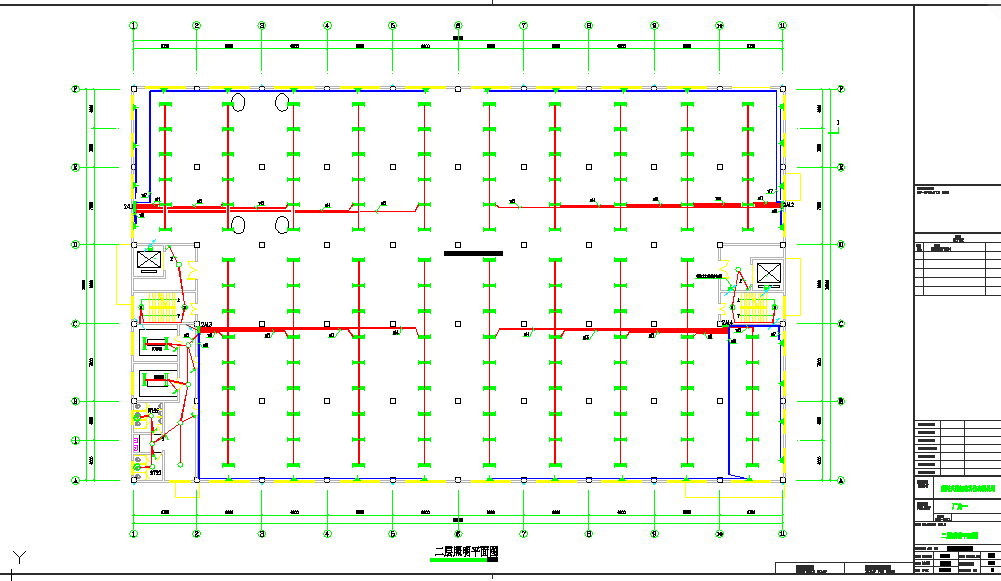 六层厂房电气施工图纸(节点详细)图片1