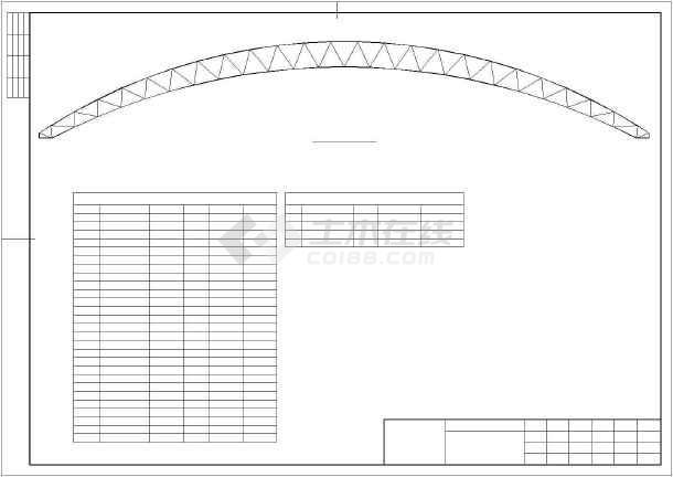 某煤场防尘环保技改工程结构设计图-图1