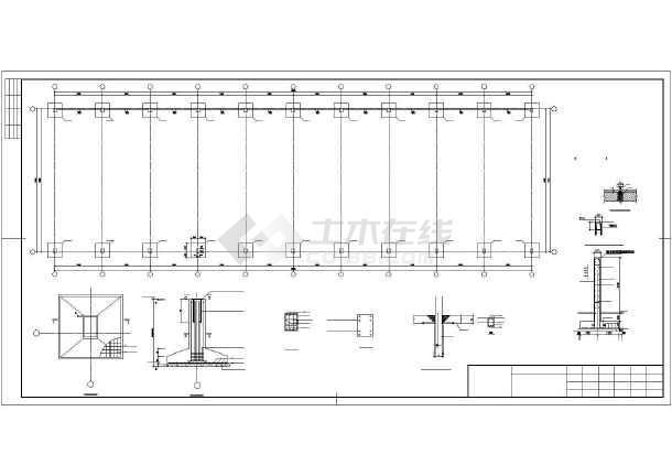 某煤场防尘环保技改工程结构设计图-图2