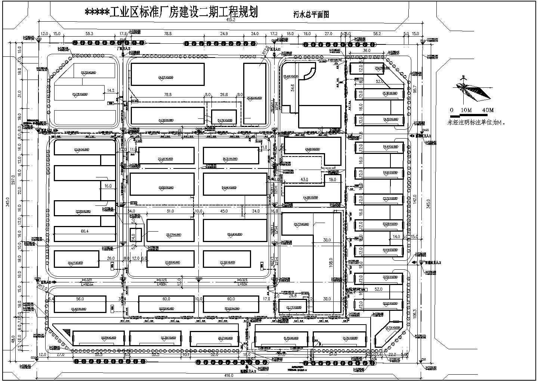 某工业区二期厂房规划建筑设计图(共6张)图片1