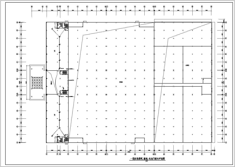 经典的一套厂房电气施工图(共5张)图片2