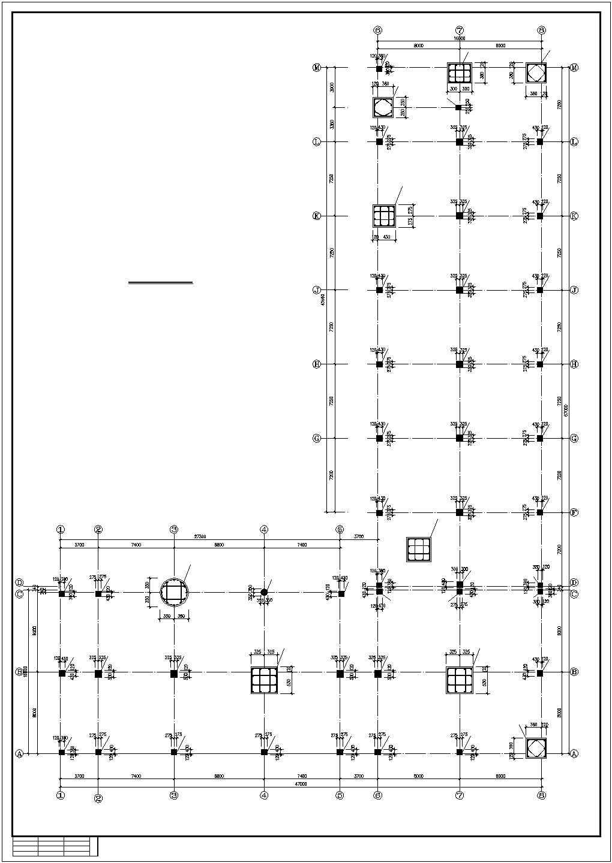 某工厂办公楼结构施工图图片2