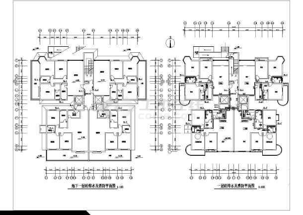 某高层综合楼给排水图-图二
