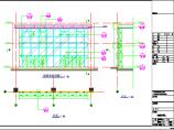 某�t院�w建工程明框玻璃幕��建筑施工�D(玻璃雨蓬)�D片1