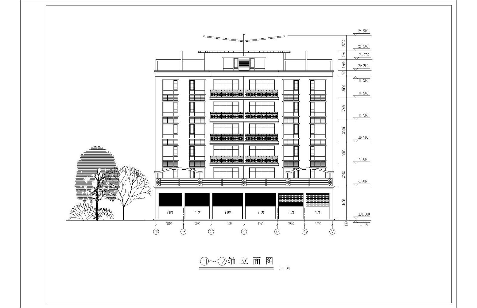 蔡宅多层住宅楼图纸图片1