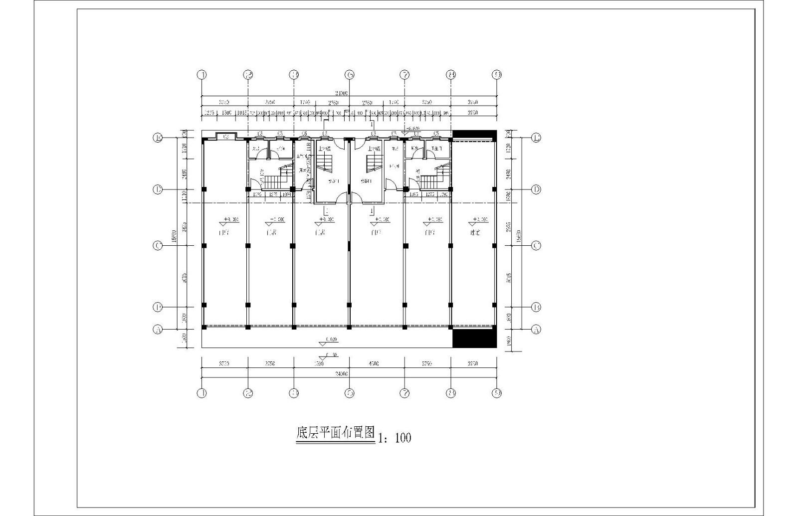 蔡宅多层住宅楼图纸图片2