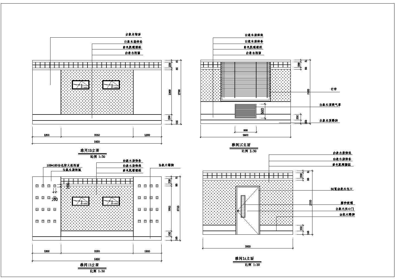 工厂办公楼餐厅室内装修设计cad施工图图片1