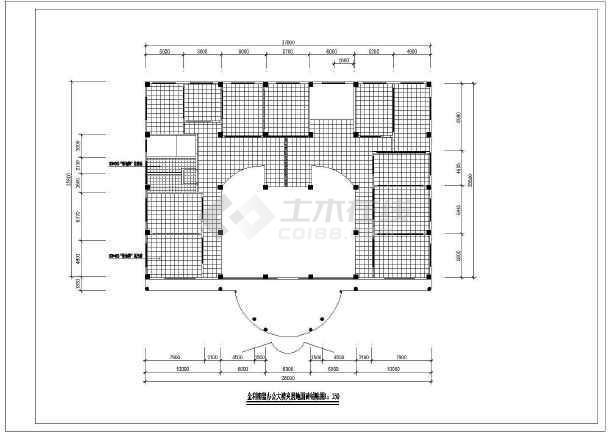 公司办公楼室内装修设计cad方案图-图一
