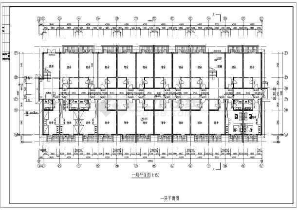 点击查看公司集团员工宿舍楼室内装修设计cad图第1张大图