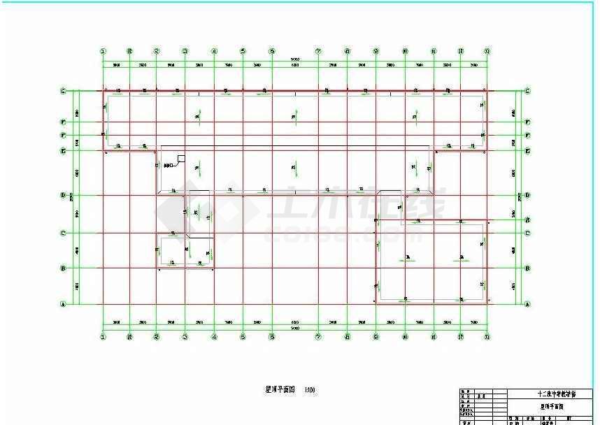 某地实用小型中学教学楼建筑设计图-图2