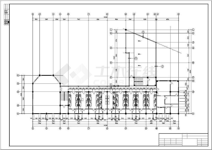 某地小型幼儿圆建筑cad设计图-图1