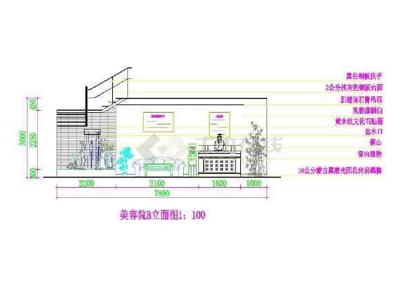 美发美容LOFT室内设计方案-图二