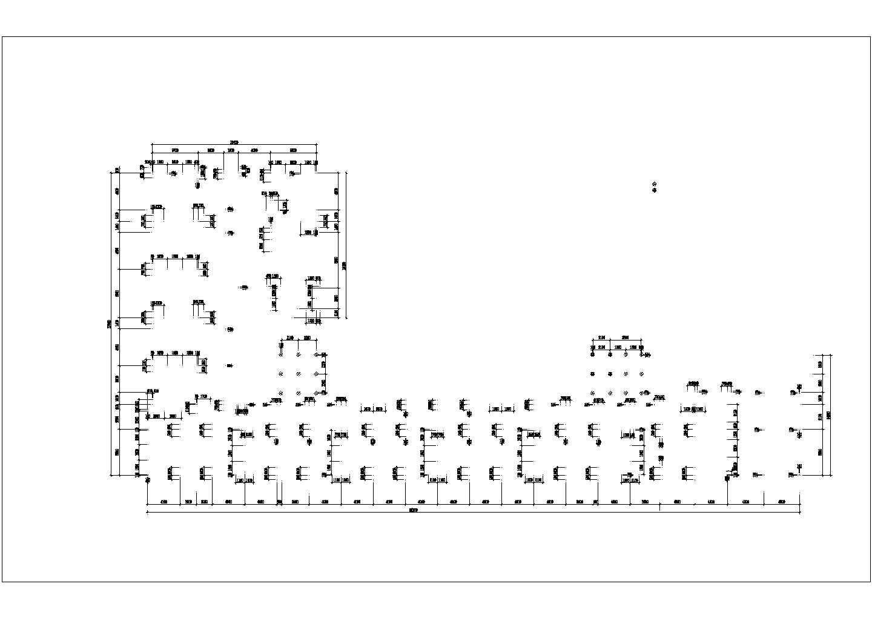 青年城花园小区商住楼地下室建筑结构施工图(46667.06�O)图片1