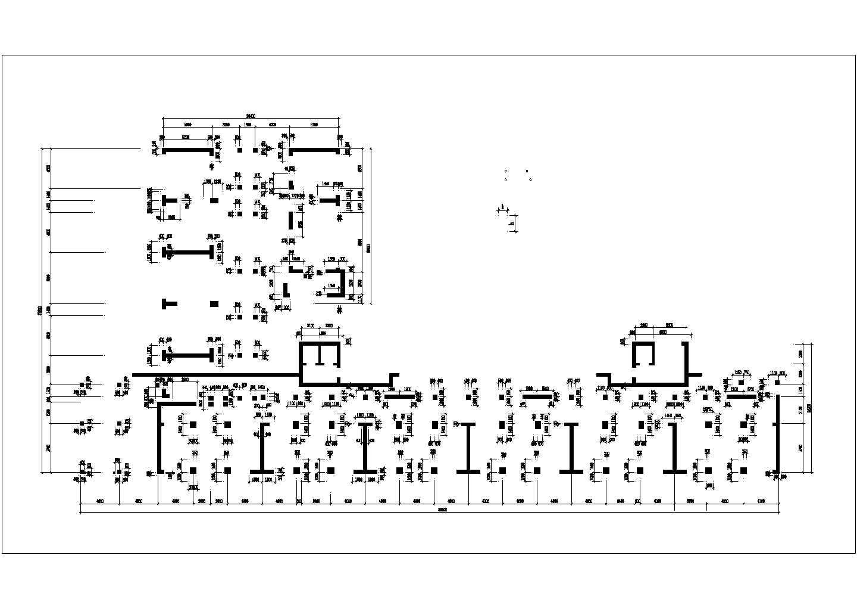 青年城花园小区商住楼地下室建筑结构施工图(46667.06�O)图片2