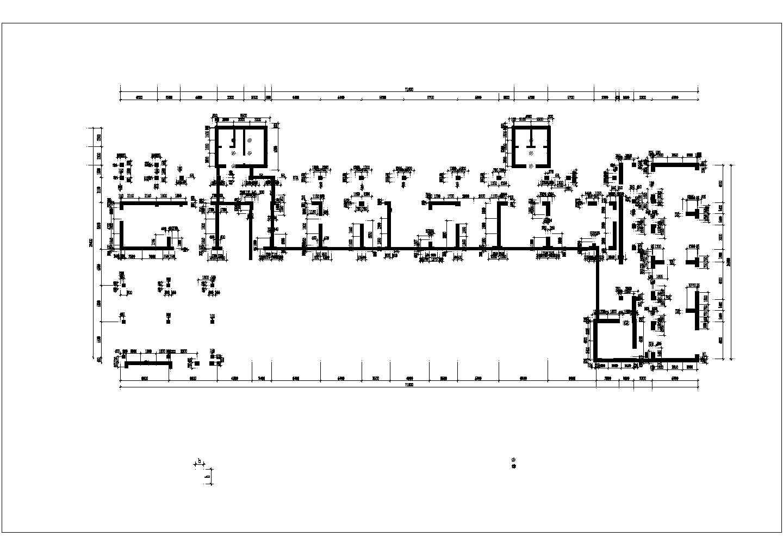 青年城花园小区商住楼地下室建筑结构施工图(46667.06�O)图片3