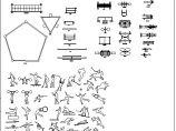 室外健身器材CAD设计施工图库图片2